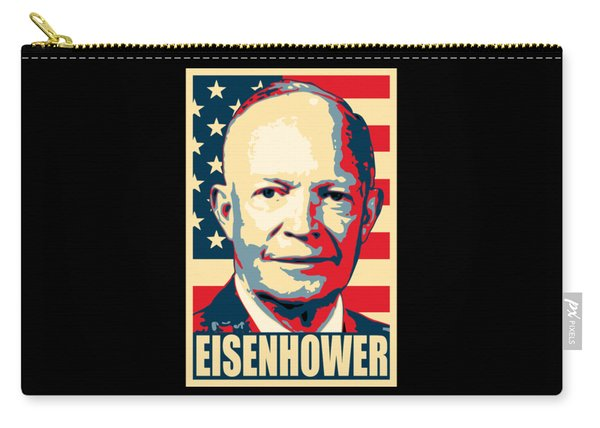 Dwight D. Eisenhower Amercian Propaganda Poster Art Carry-all Pouch