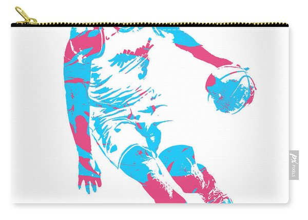 Dwyane Wade Miami Heat Pixel Art 40 Carry-all Pouch