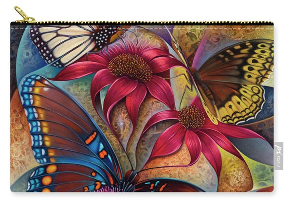 Dynamic Papalotl Series 1 - Diptych Carry-all Pouch