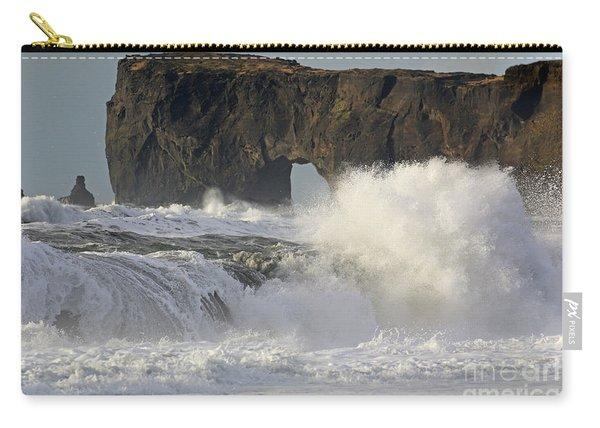 Dyrholaey Arch From Reynisfjara Beach 6858 Carry-all Pouch