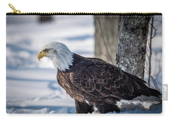 Eagle In The Snow Carry-all Pouch