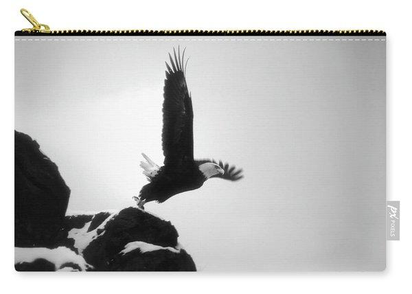 Eagle Takeoff At Adak, Alaska Carry-all Pouch