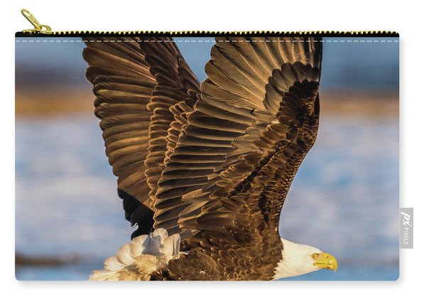 Eagle Taking Off Carry-all Pouch