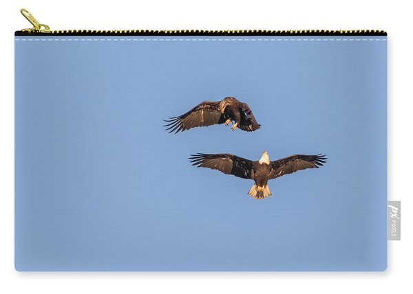 Eagles Dancing In Air Carry-all Pouch