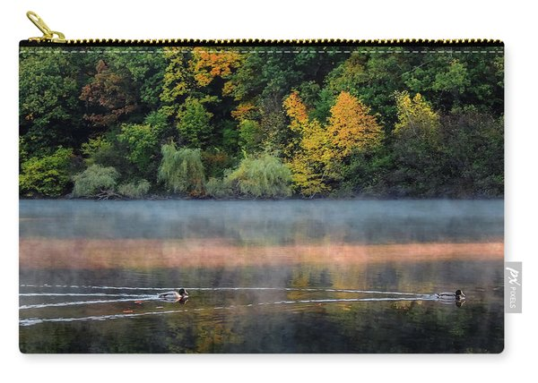 Early Autumn Morning At Longfellow Pond Carry-all Pouch