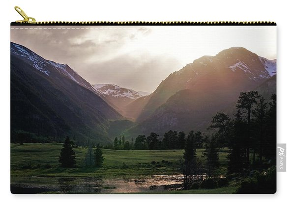 Early Evening Light In The Valley Carry-all Pouch