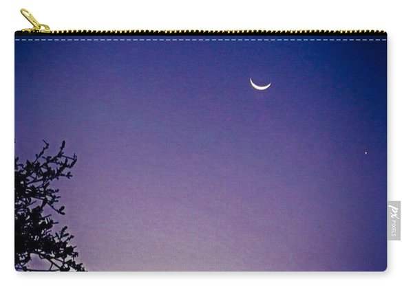 Early #evening #waxingcrescentmoon And Carry-all Pouch