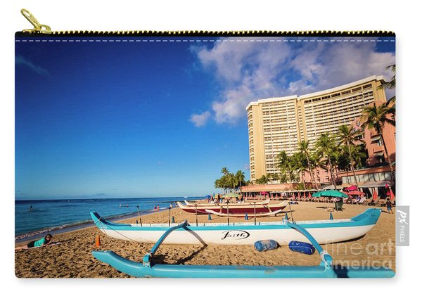 Early Morning At Outrigger Beach,hawaii Carry-all Pouch
