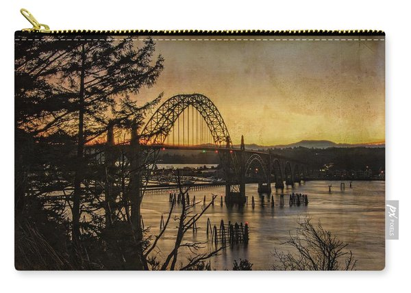 Early Morning At The Yaquina Bay Bridge  Carry-all Pouch