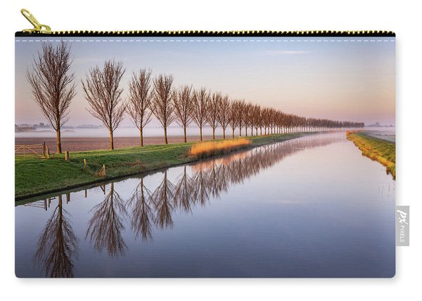 Carry-all Pouch featuring the photograph Early Morning By The Canal by Susan Leonard