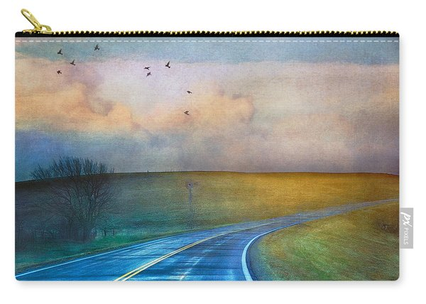 Early Morning Kansas Two-lane Highway Carry-all Pouch
