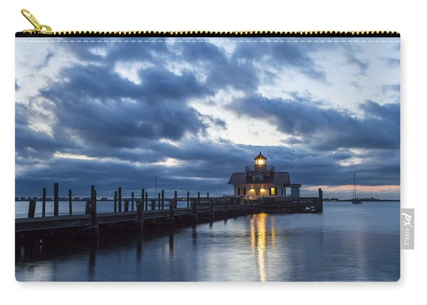 Early Morning Over Roanoke Marshes Lighthouse Carry-all Pouch