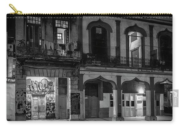 Early Morning Paseo Del Prado Havana Cuba Bw Carry-all Pouch