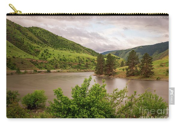 Early Morning Smoothy Waterscape Art By Kaylyn Franks  Carry-all Pouch