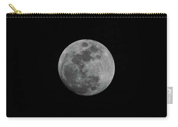 Carry-all Pouch featuring the photograph Early Spring Moon 2017 by Jason Coward