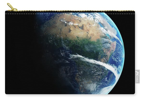 Earth Day And Night Space View Carry-all Pouch