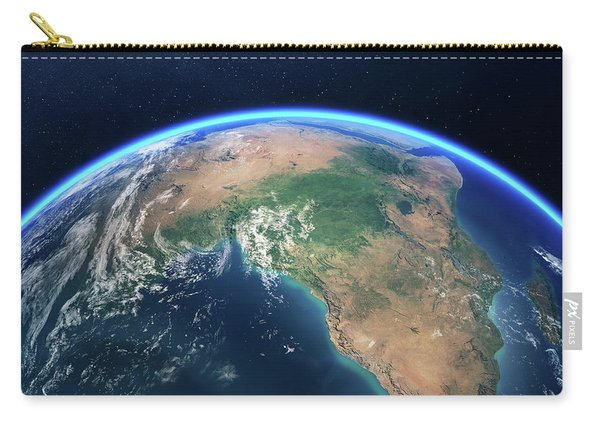 Earth From Space Africa View Carry-all Pouch