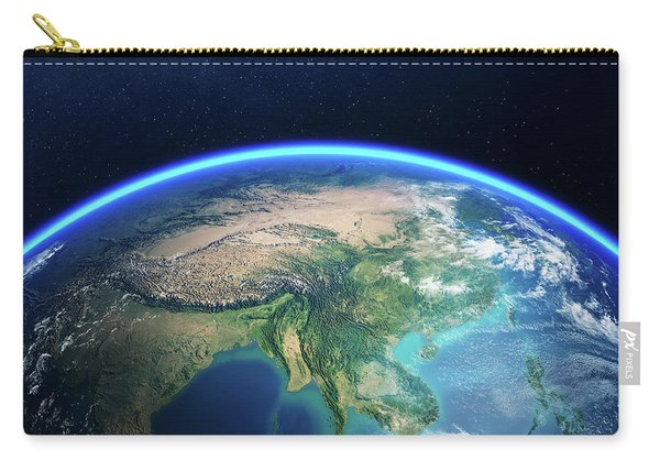 Earth From Space Asia View Carry-all Pouch