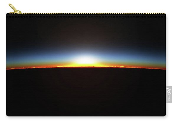 Earth Sunrise Through Atmoshere Carry-all Pouch