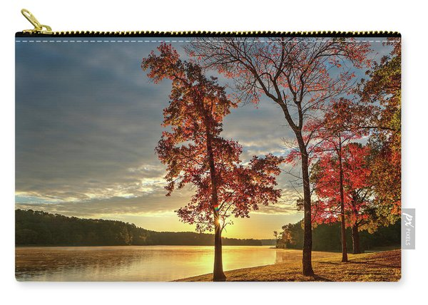 East Texas Autumn Sunrise At The Lake Carry-all Pouch