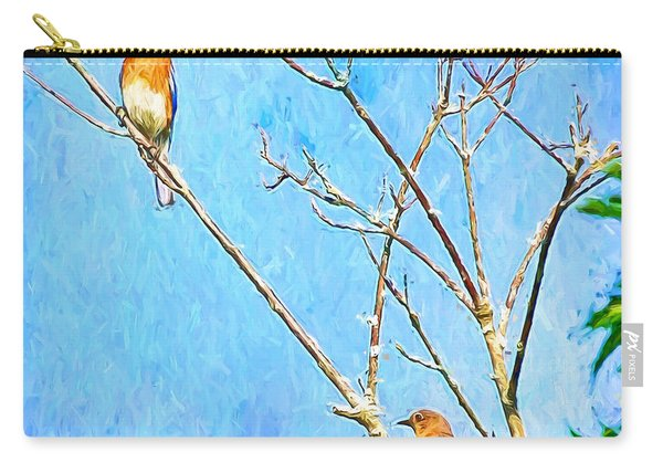 Eastern Bluebird Couple Carry-all Pouch