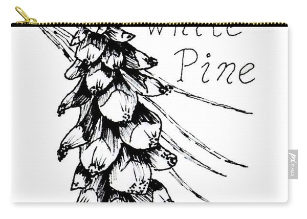 Eastern White Pine Cone On A Branch Carry-all Pouch