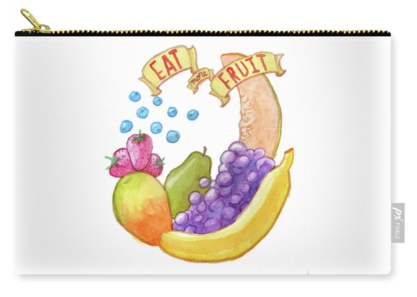Eat More Fruit Carry-all Pouch