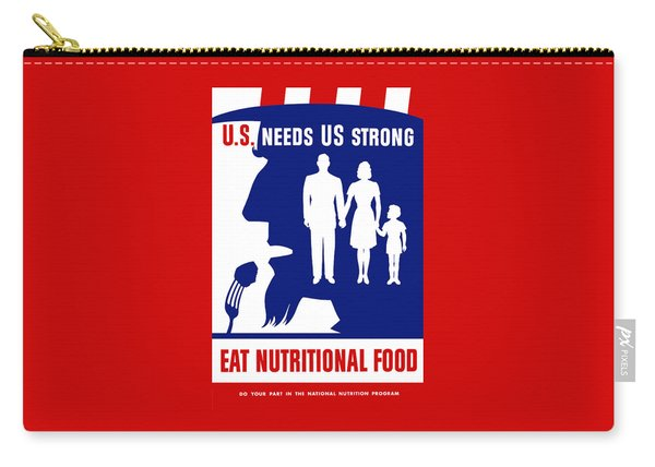 Uncle Sam - Eat Nutritional Food Carry-all Pouch
