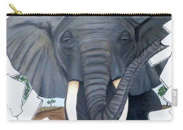 Eavesdropping Elephant Carry-all Pouch