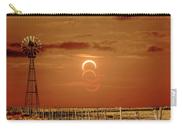 Eclipse And Lens Flares Carry-all Pouch