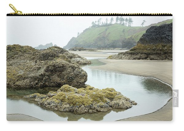 Carry-all Pouch featuring the photograph Ecola Tidepool by Tim Newton