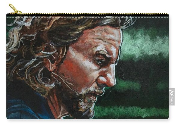 Carry-all Pouch featuring the painting Eddie Vedder by Joel Tesch