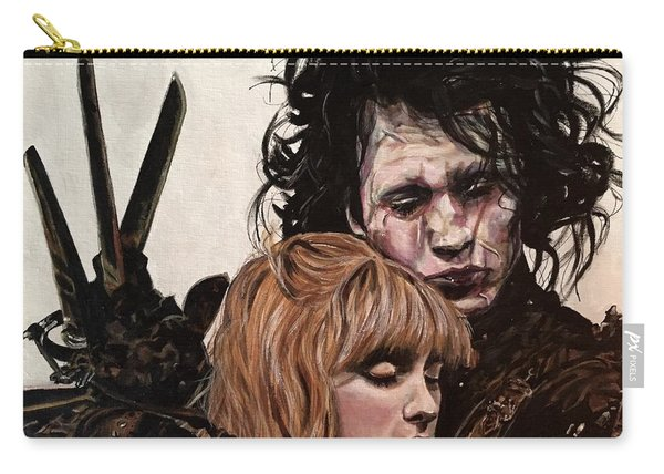 Carry-all Pouch featuring the painting Edward And Kim by Joel Tesch