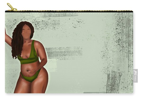 Carry-all Pouch featuring the digital art Eff Your Beauty Standards by Bria Elyce