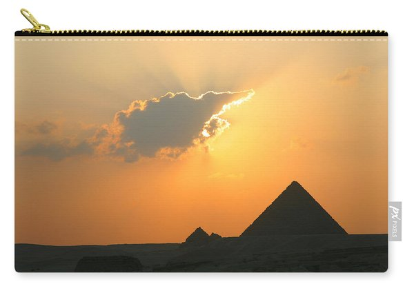 Egpytian Sunset Behind Cloud Carry-all Pouch