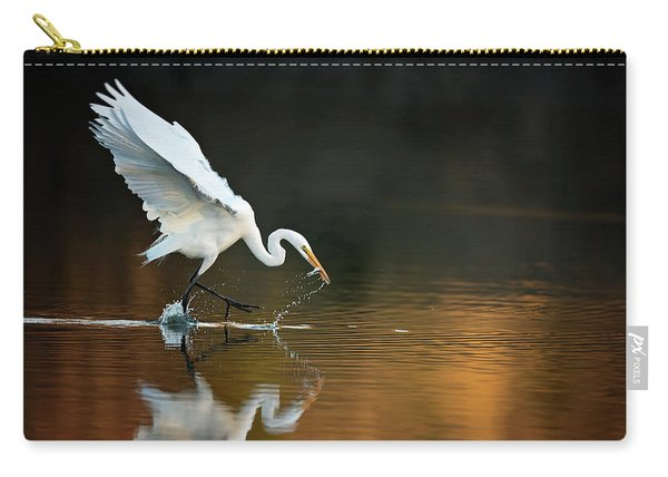 Egret At Sunset Carry-all Pouch