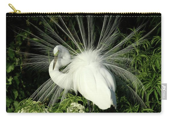 Egret Fan Dancer Carry-all Pouch