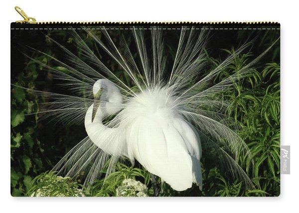 Egret Fan Dancer Carry-all Pouch