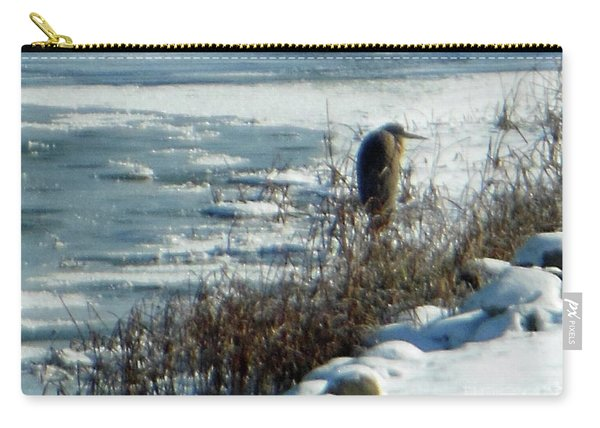 Egret Frozen Lake Carry-all Pouch