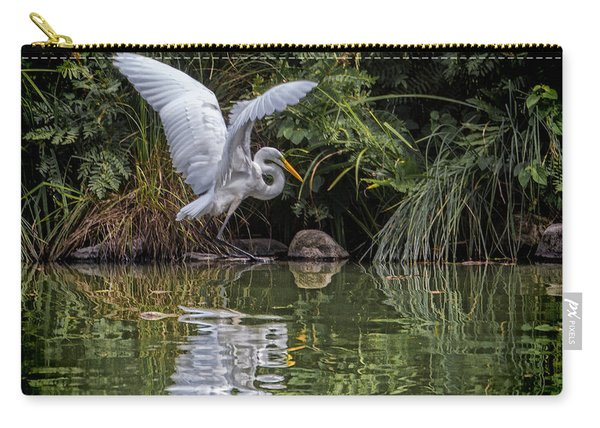 Egret Hunting For Lunch Carry-all Pouch