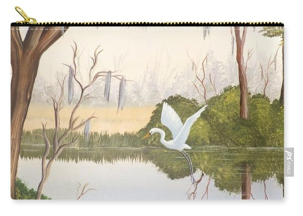 Egret In Flight 1 Carry-all Pouch