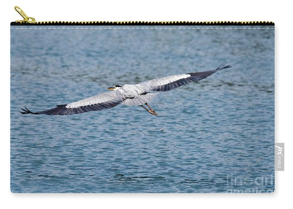 Great Blue Heron In Flight Carry-all Pouch