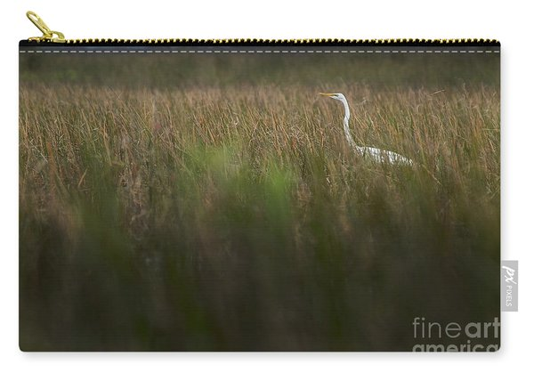 Egret In Swamp-1-0711 Carry-all Pouch