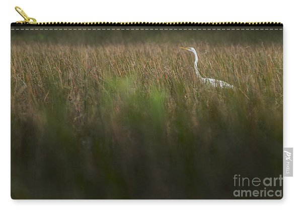 Egret In Swamp-3-0711 Carry-all Pouch
