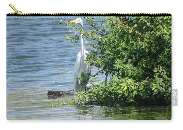 Great Egret In The Marsh Carry-all Pouch