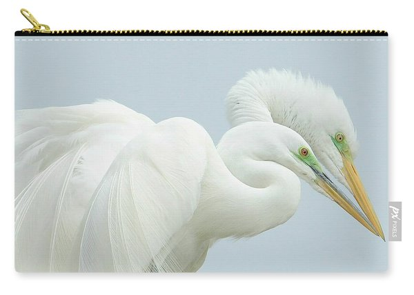 Egrets In Love 2 Carry-all Pouch