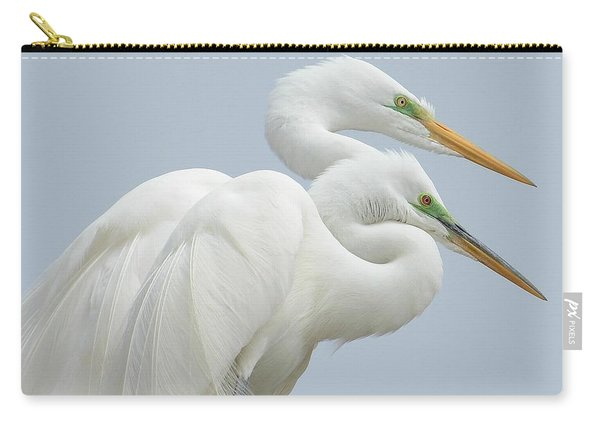 Egrets In Love Carry-all Pouch