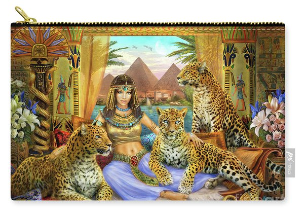 Egyptian Queen With Leopard Carry-all Pouch