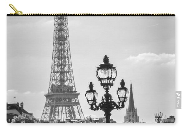 Eiffel Tower And Bridge Alexandre IIi Carry-all Pouch