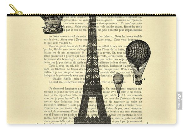 Eiffel Tower And Hot Air Balloons Carry-all Pouch